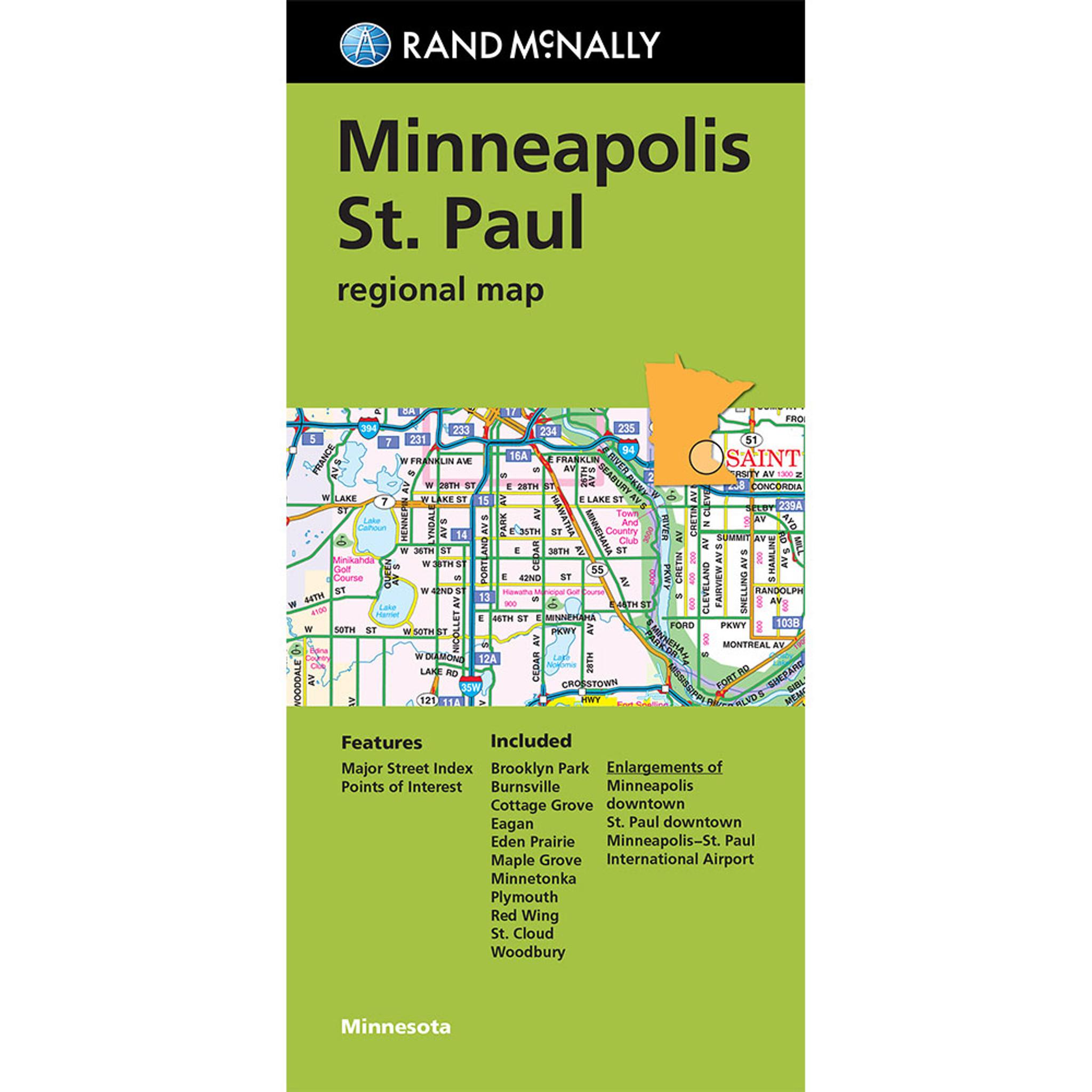 Folded Map: Minneapolis St. Paul Regional Map on mall of america, bloomington map, hennepin county map, university of minnesota, des moines, monroe map, usa map, cleveland map, milwaukee map, calgary canada map, target center, la crosse map, saint paul, minnesota twins, wisconsin map, mn map, duluth map, minnesota map, st paul map, san antonio, pittsburgh map, san jose map, sioux falls, united states map, twin cities map, seattle map, minneapolis-st. paul, eden prairie map, minnetonka map,