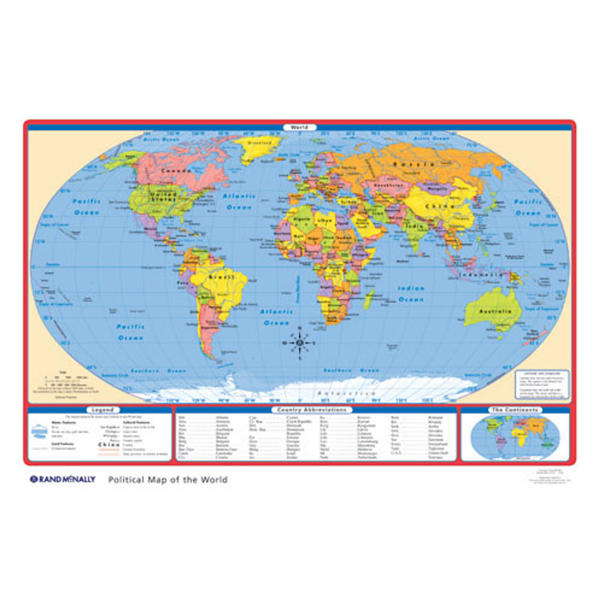 World Map United States Of America.Political U S World Desk Map