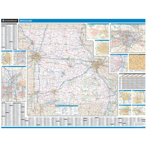 ProSeries Wall Map: Missouri State