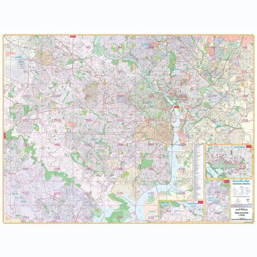 ProSeries Wall Map: Northern Virginia / Washington D.C.