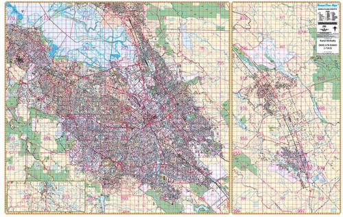 Thomas Bros. Santa Clara County Wall Map