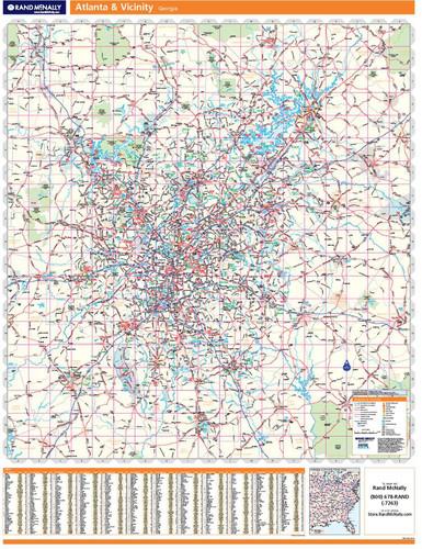 ProSeries Wall Map: Atlanta Georgia Regional