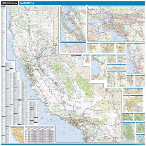 ProSeries Wall Map: California State