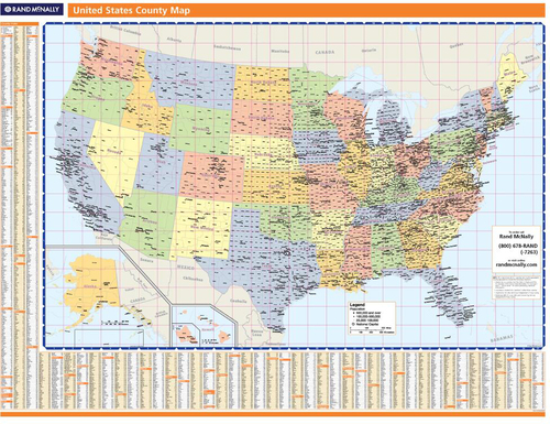 Rand Mcnally Proseries Regional Wall Map Western United States