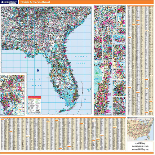 ProSeries Wall Map: Florida and the Southeast United States