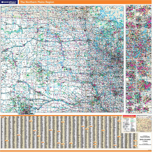 ProSeries Wall Map: Northern Great Plains Region