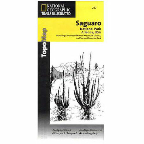 National Geographic Trails Illustrated Map 237: Arizona - Saguaro National Park
