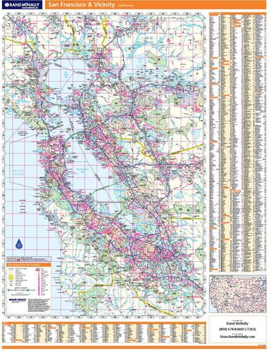 San Francisco & Vicinity Wall Map