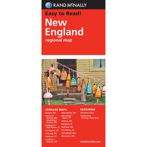 Folded Map: New England