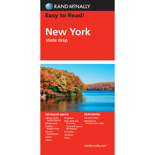 Easy To Read: New York State Map