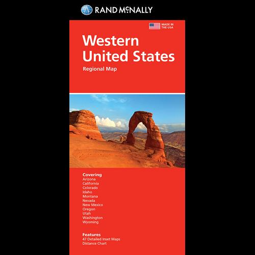 Folded Map: Western United States