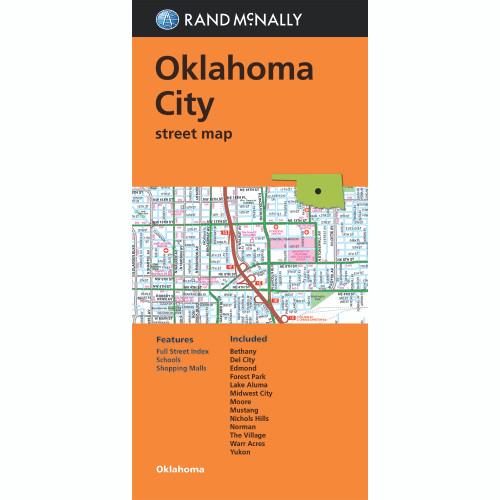 Folded Map: Oklahoma City