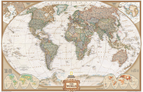 National Geographic World Executive Wall Map
