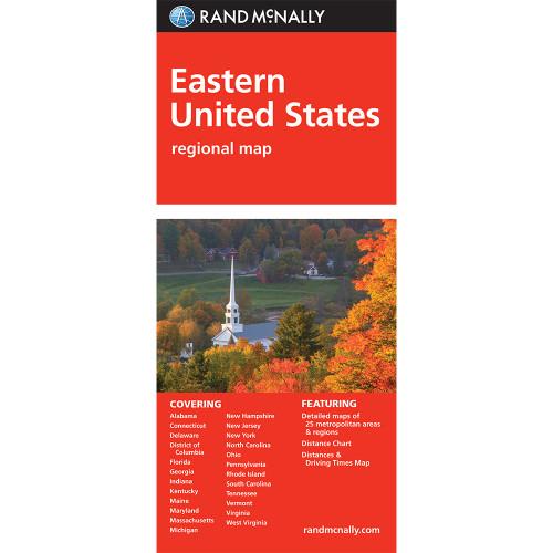Folded Map: Eastern United States