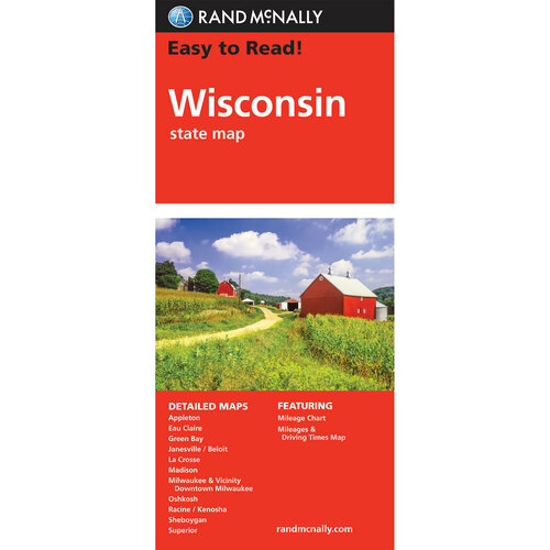 Easy To Read: Wisconsin State Map