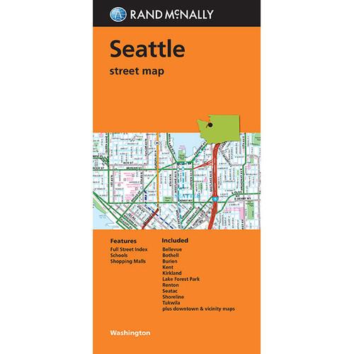 Folded Map: Seattle Street Map