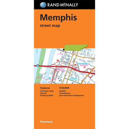 Folded Map: Memphis Street Map