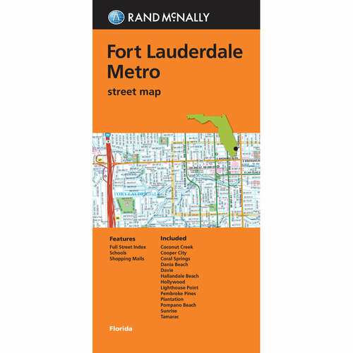 Folded Map: Fort Lauderdale Metro Street Map