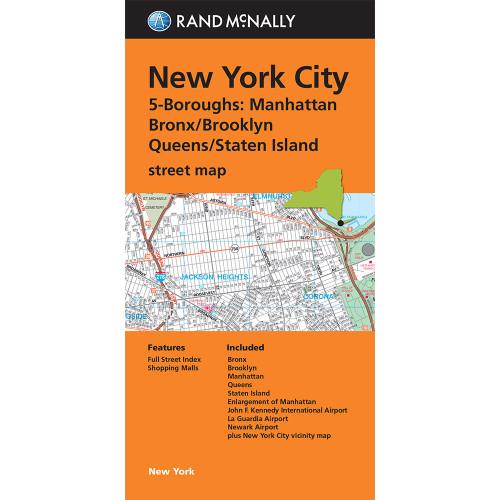 Folded Map: New York City | 5 Boroughs