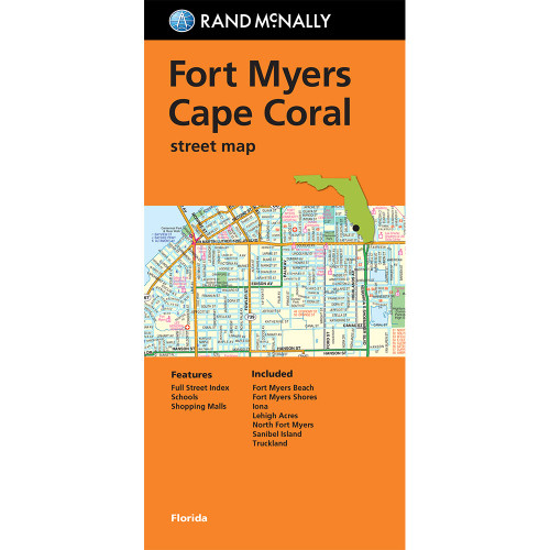 Folded Map: Fort Myers, Cape Coral Street Map