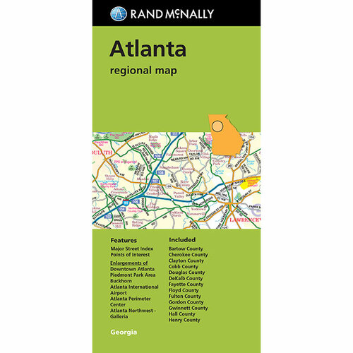 Folded Map: Atlanta Regional Map