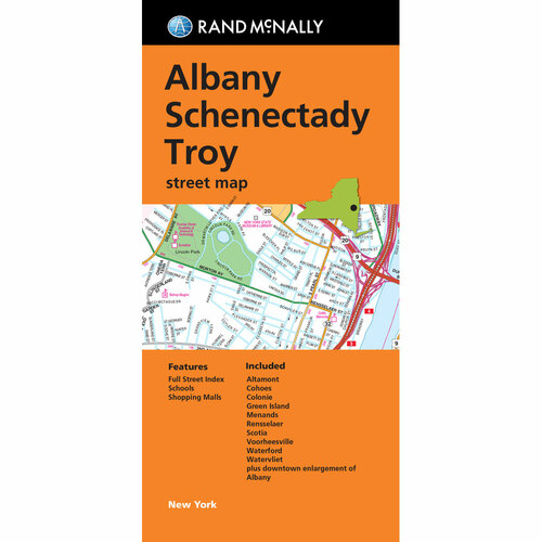 Folded Map: Albany Schenectady Troy Street Map