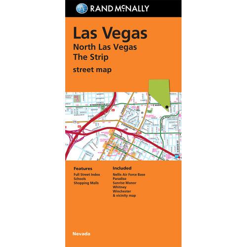 Folded Map: North Las Vegas The Strip Street Map