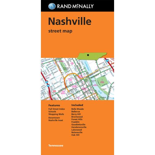 Folded Map: Nashville Street Map