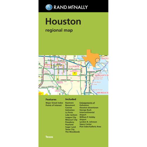 Folded Map: Houston Regional Map