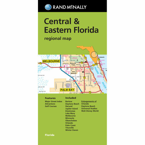 Folded Map: Central & Eastern Florida Regional Map