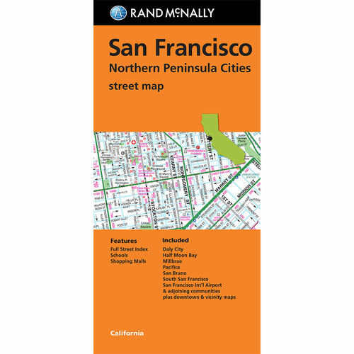 Folded Map: San Francisco & Northern Peninsula Cities