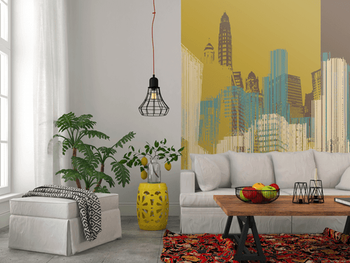 Urban Skyline Wall Mural