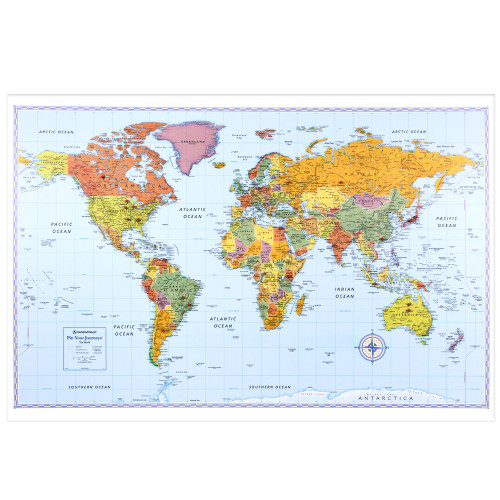Pin Your Journeys® Wall Map