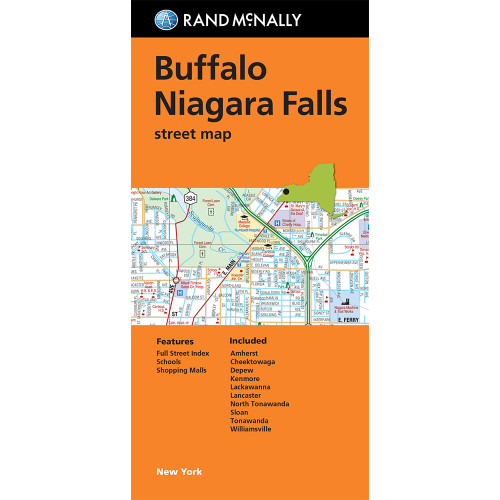 Folded Map: Buffalo and Niagara Falls Street Map