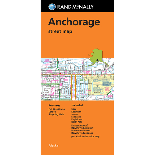 Folded Map: Anchorage Street Map