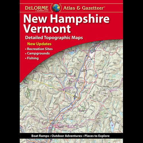 DeLorme Atlas & Gazetteer: New Hampshire, Vermont
