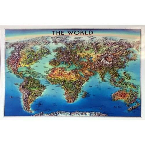 Unique Media World Laminated Map