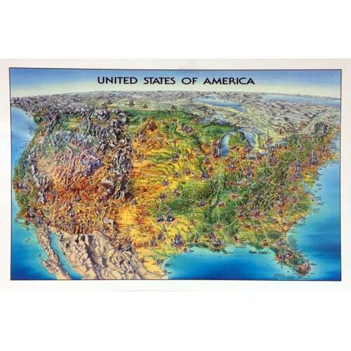 Unique Media USA Laminated Map