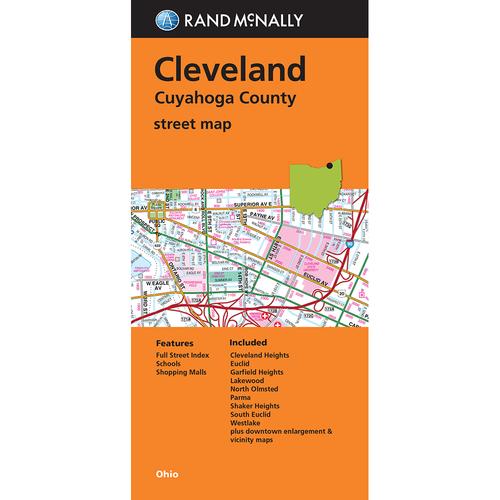 Folded Map: Cleveland/Cuyahoga County Street Map