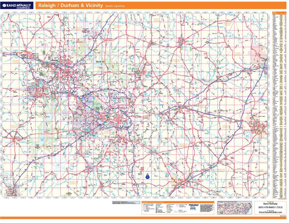 ProSeries Wall Map: Raleigh, Durham on