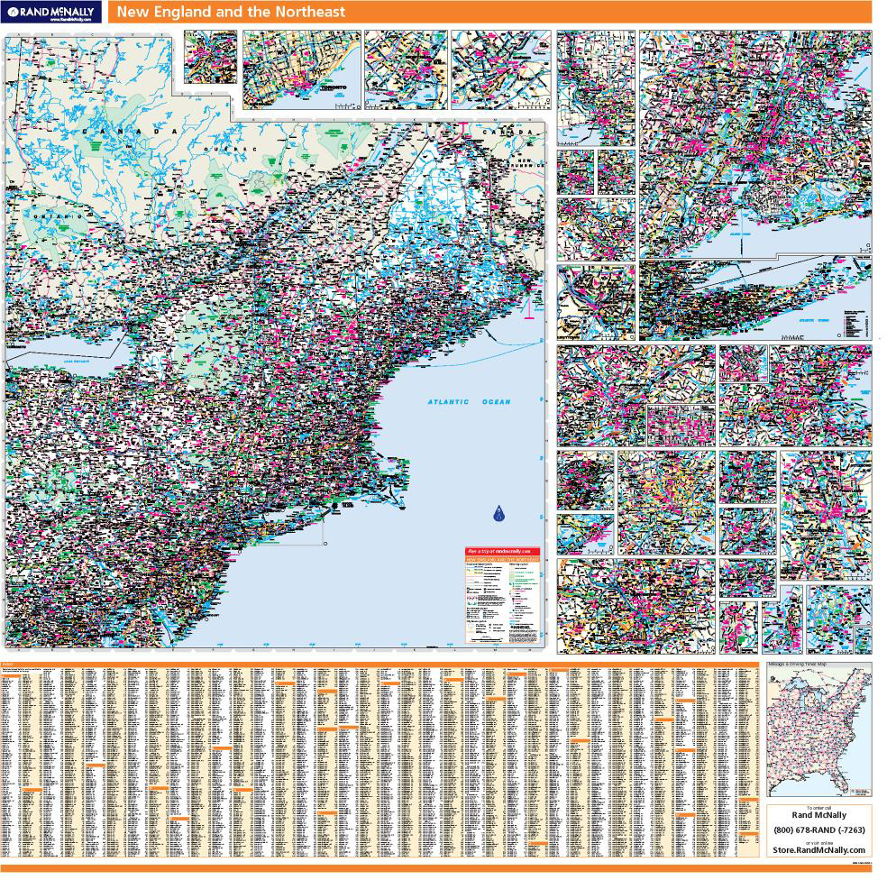 Map Of New England And Quebec.Proseries Wall Map New England