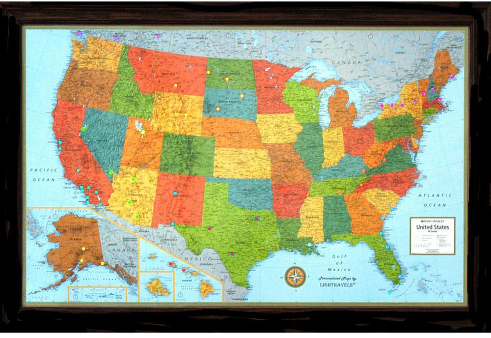 Lightravels Illuminated U S A Map
