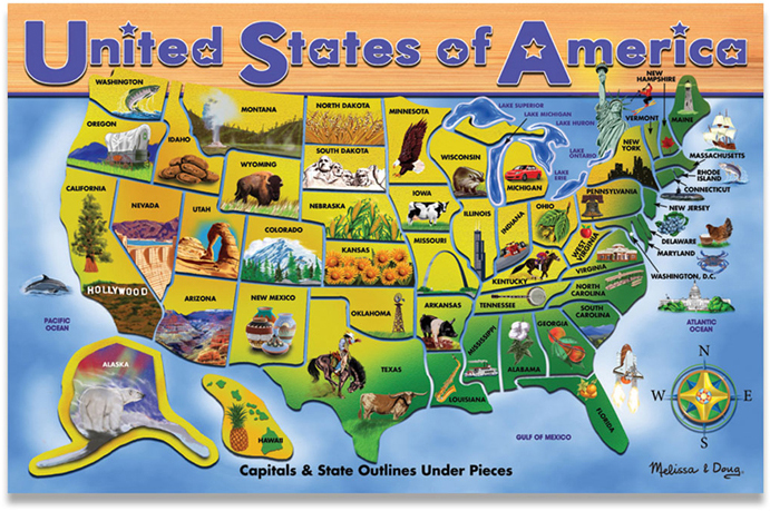 USA Map Puzzle - Rand McNally Store