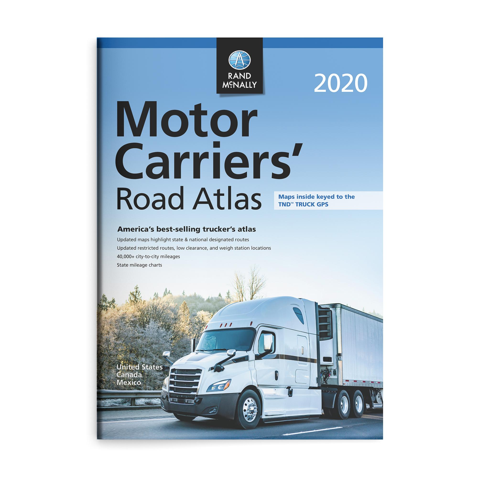 Best Truckers Gps 2020 Rand McNally 2020 Motor Carriers' Road Atlas