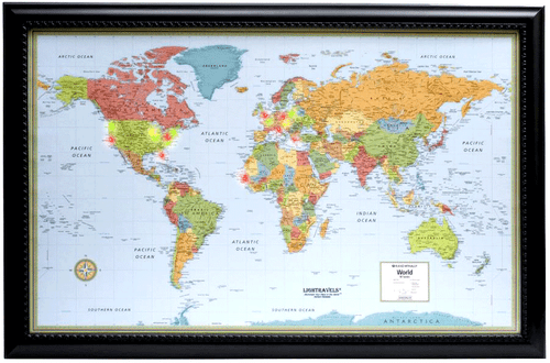 Lightravels Illuminated World Map