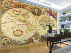 Old World Map Mural.Antique World Map Wall Mural Rand Mcnally Store