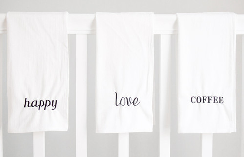 Set of 3 Positive Message Towels