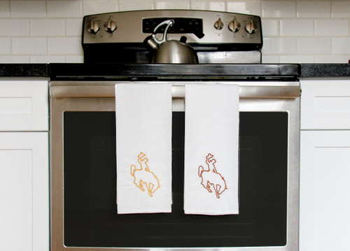 Bucking Bronco Flour Sack Towel
