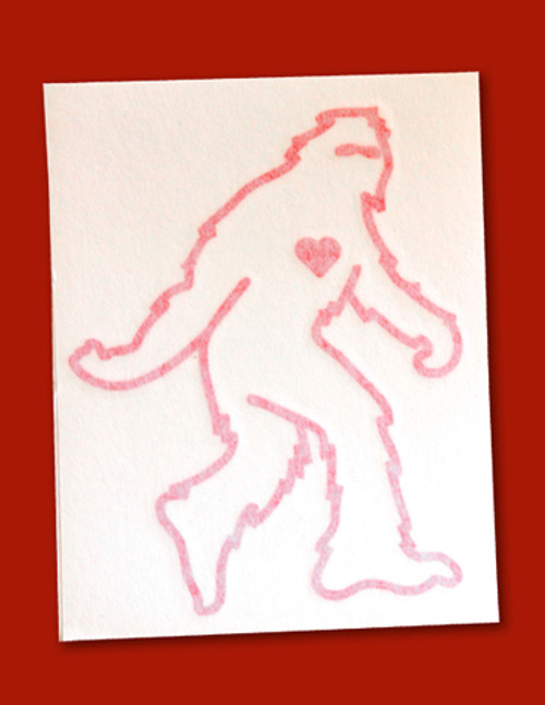Sasquatch Vinyl Sticker