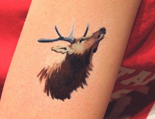 Elk Temporary Tattoo